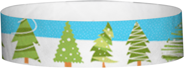 "A Tyvek® 3/4"" X 10"" Christmas Tree wristband"