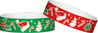 "A Tyvek® 3/4"" X 10"" Seasons Greetings wristbands"
