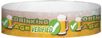 "A Tyvek® 3/4"" X 10"" Drinking Age Verified Beer Glass Light Blue wristband"