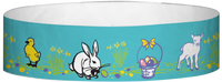 "A Tyvek® 3/4"" X 10"" Easter Multicoloured wristband"