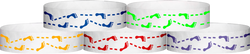 "Tyvek® 3/4"" x 10"" Foot Prints pattern wristbands"