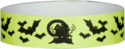 "Tyvek® 3/4"" x 10"" Bats pattern wristbands"