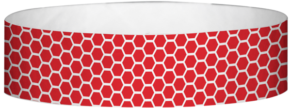 "A Tyvek® 3/4"" X 10"" Honeycomb Red wristband"