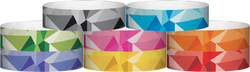 "Tyvek® 3/4"" x 10"" Mosaic pattern wristbands"