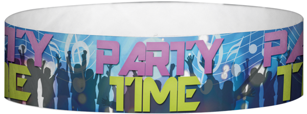 "A Tyvek® 3/4"" X 10"" Party Time Club Multicoloured wristband"
