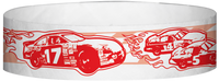 "A Tyvek® 3/4"" X 10"" Race Track Red wristband"