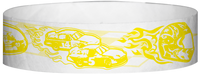 "A Tyvek® 3/4"" X 10"" Race Track Yellow wristband"