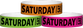 "Tyvek® 3/4"" x 10"" Saturday pattern wristbands"