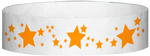"A Tyvek® 3/4"" X 10"" Stars Neon Orange wristband"