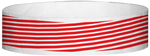 "A Tyvek® 3/4"" X 10"" Stripes Red wristband"