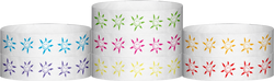 "Tyvek® 3/4"" x 10"" Sun Face pattern wristbands"