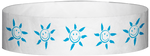 "A Tyvek® 3/4"" X 10"" Sun Face Light Blue wristband"