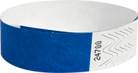 "A Tyvek® 3/4"" solid Blue wristband"