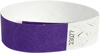 "A Tyvek® 3/4"" solid Purple wristband"