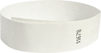 "A 3/4"" Tyvek® litter free solid White wristband"
