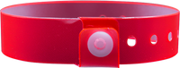 "A Vinyl 3/4"" x 10"" L-Shape Snapped Solid Edge Glow Red wristband"