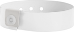 "A Vinyl 3/4"" x 10"" L-Shape Snapped Solid Frosty Clear wristband"