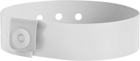 "A Vinyl 3/4"" x 10"" L-Shape Snapped Solid White wristband"