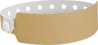"A Vinyl 1"" x 10"" Wide Face Snapped Solid Gold wristband"