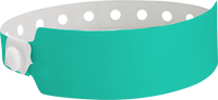"A Vinyl 1"" x 10"" Wide Face Snapped Solid Teal wristband"
