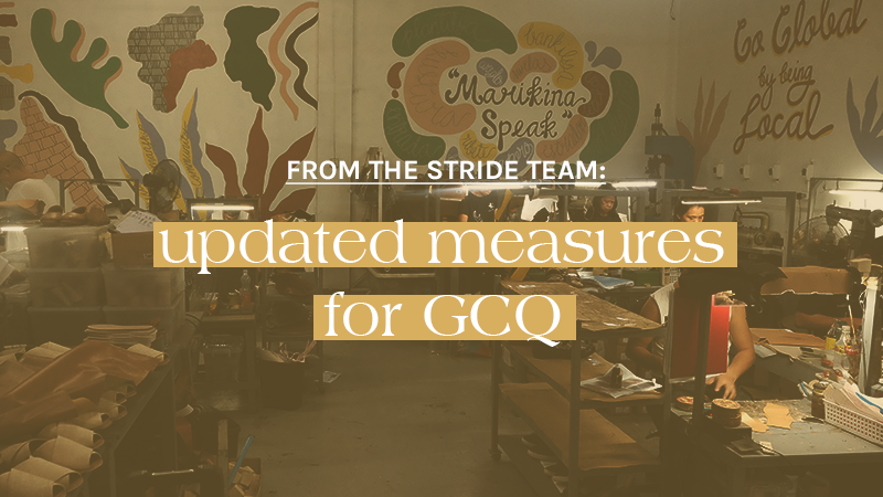 From the Stride Team: Updated Measures for GCQ