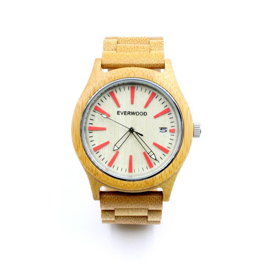 Kylemore - Beige/Beige (Maple Wood) - Men - Accessories - Watches - Everwood Watch Company - Well Timed Man