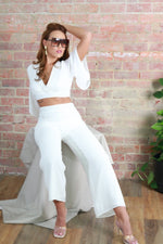 Karla crop top and trouser Co-ord