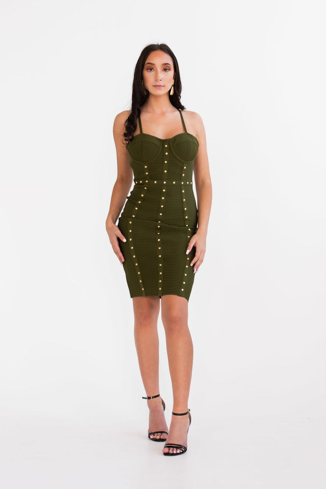 Cleo studded bodycon midi dress - Seven Chique