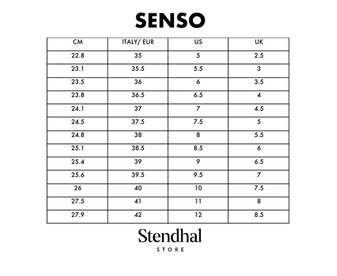 Tabla de Tallas SENSO
