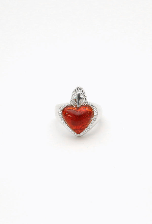 Anillo Heart of Glass