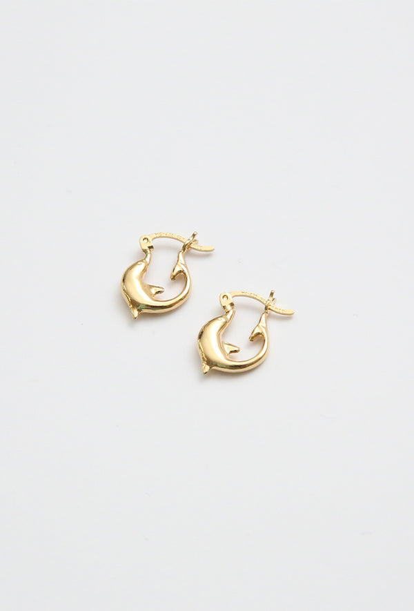 Aretes Dolphin Hoops Tiny.