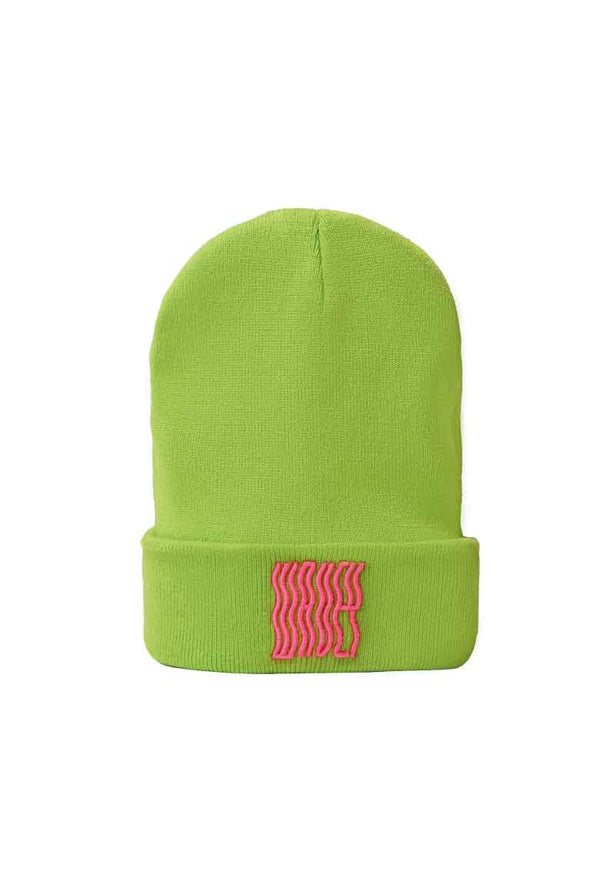 Green - Hot Pink Beanie