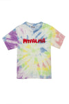 Toddlers Tie DyeRed Balloon Logo Short Sleeve