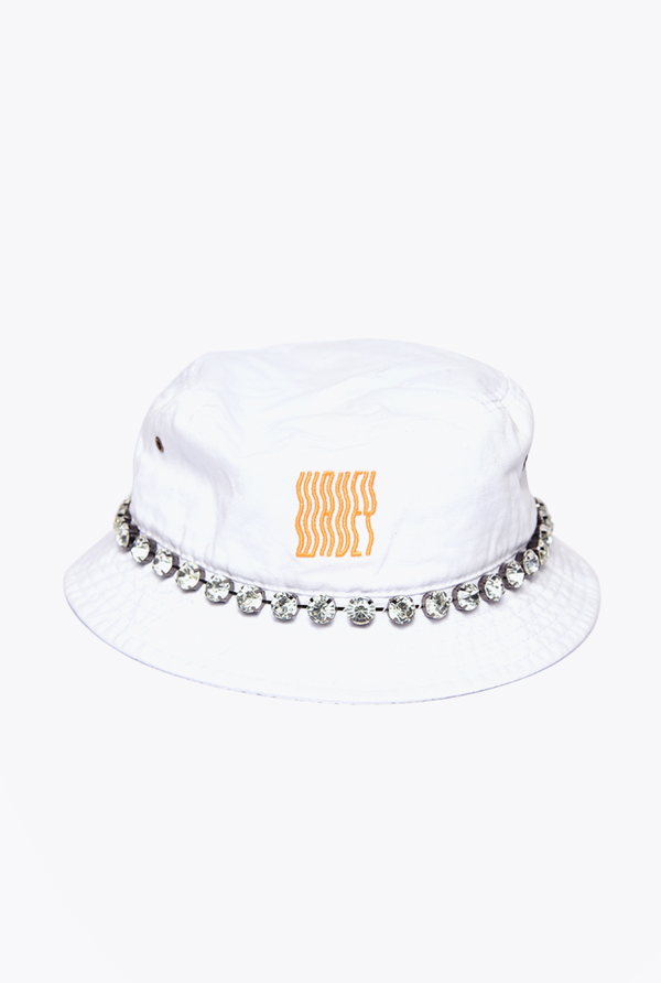 Embelish Bucket Hat White/Black