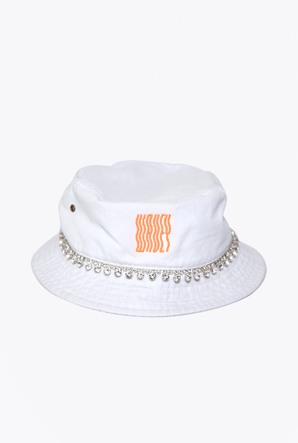 Embelish Bucket Hat White