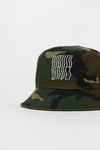 Military Rhinestones Bucket Hat