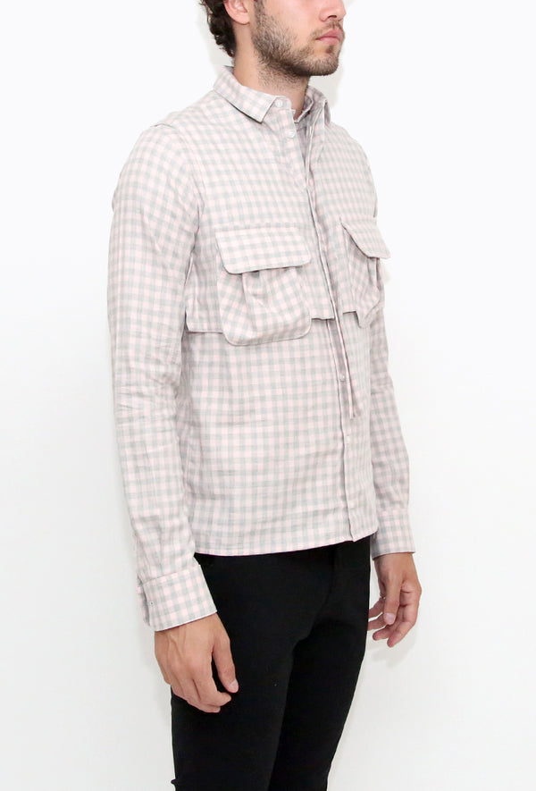 Amimitl Shirt Grey/Pink
