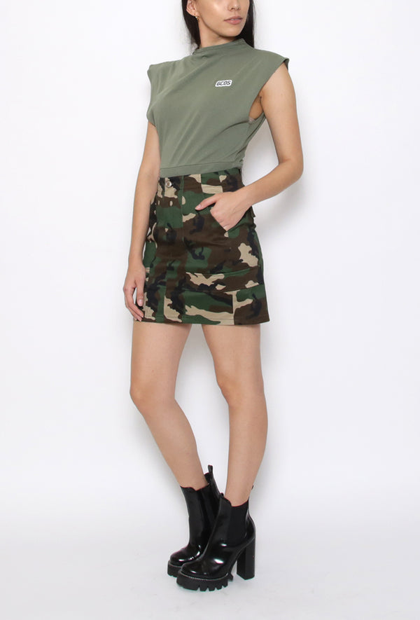 Fluo Stich Camo Skirt