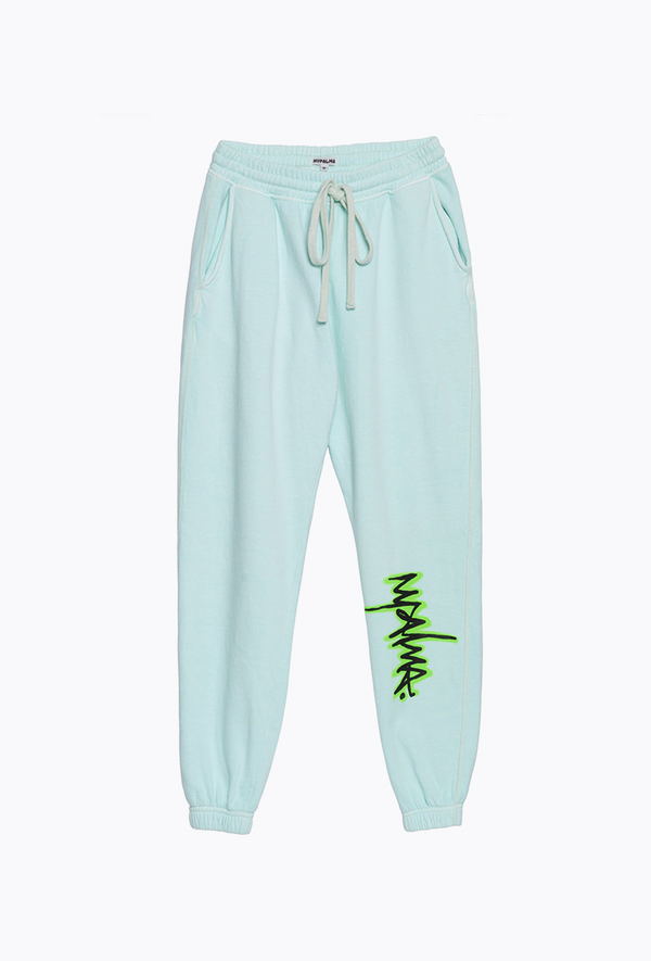 Mint Graffiti Pants