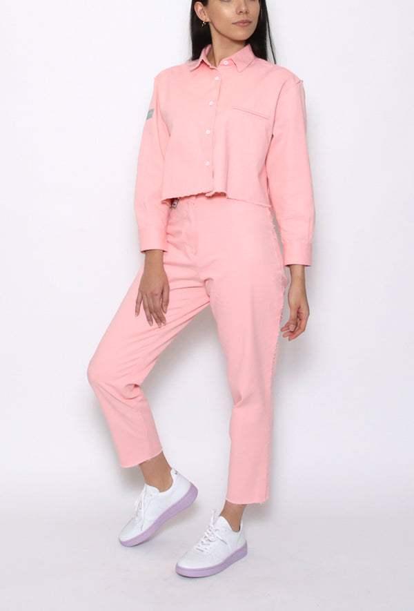 Cut Capri Pants Pink