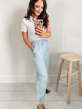 Load image into Gallery viewer, Chambray Drawstring Joggers