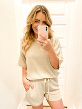 Load image into Gallery viewer, Ribbed Shorts Set- Taupe