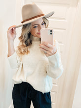 Load image into Gallery viewer, Billie Wide-Brim Hat In Taupe