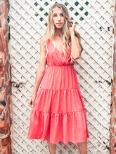 Load image into Gallery viewer, Coral Midi Dress