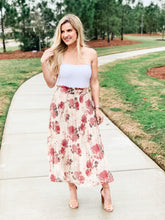 Load image into Gallery viewer, Floral High Waist Skirt