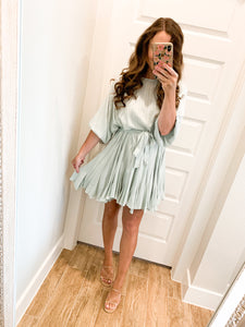 Wear It Everywhere Dress- Light Sage