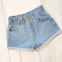 Load image into Gallery viewer, High Waist Denim Shorts