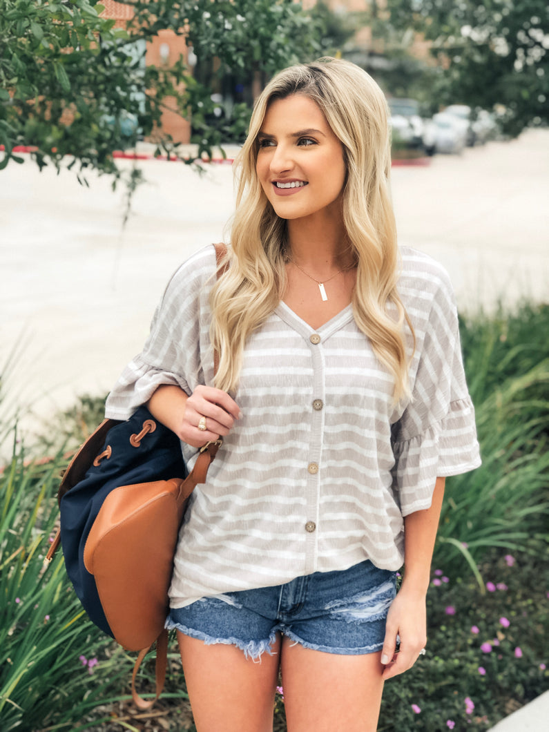 Stepping into Spring Striped Top