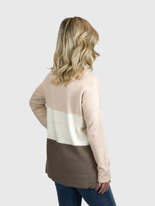 Blush Color Blocked Sweater