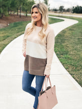 Load image into Gallery viewer, Blush Color Blocked Sweater